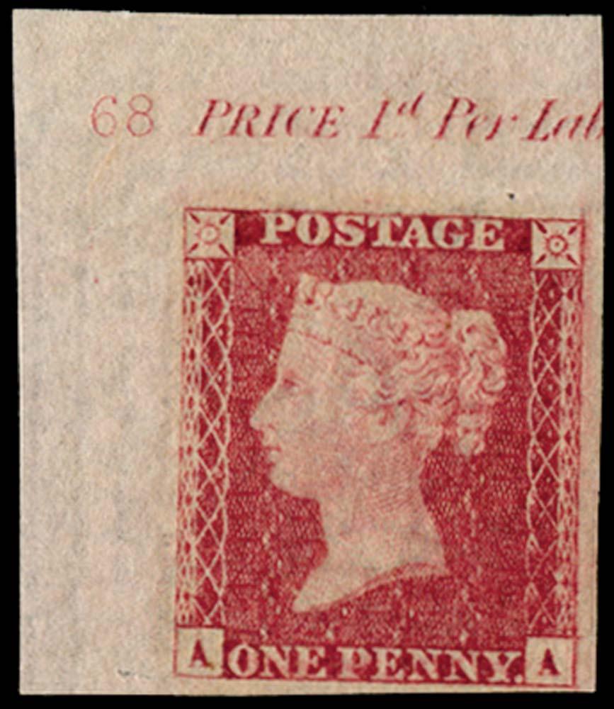 GB 1857  SG40var Pl.68 Mint