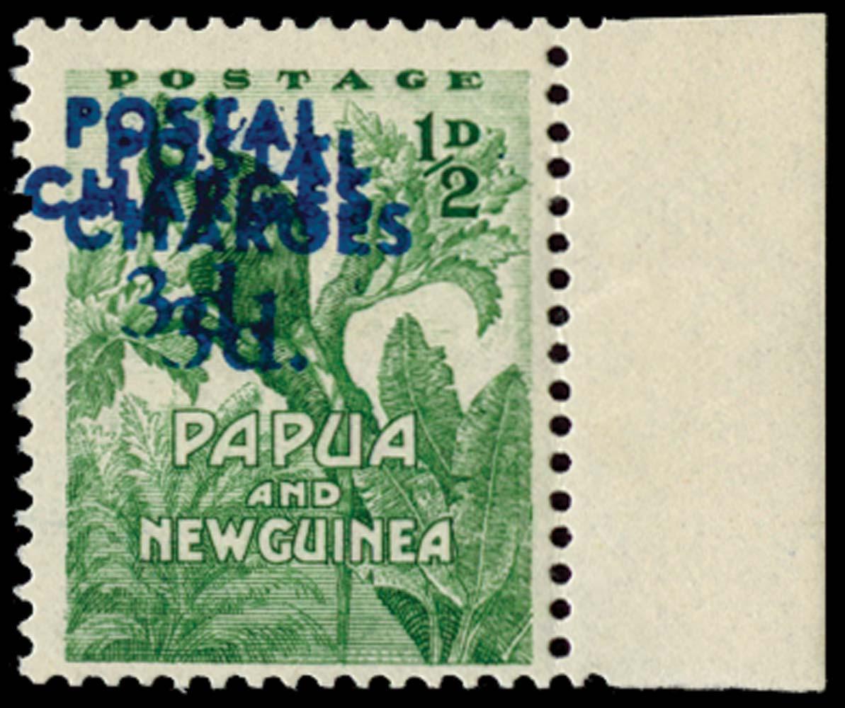 PAPUA NEW GUINEA 1960  SGD3a Postage Due