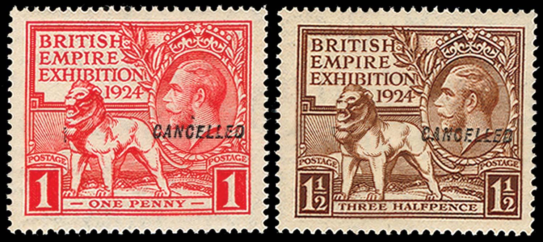GB 1924  SG430/1var Specimen