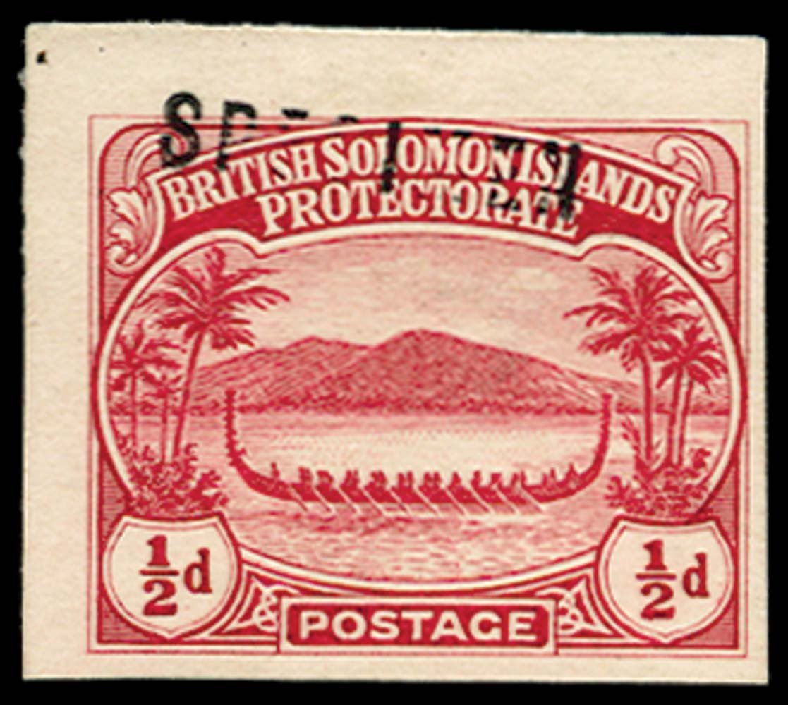 SOLOMON ISLANDS 1922  SG8 Proof