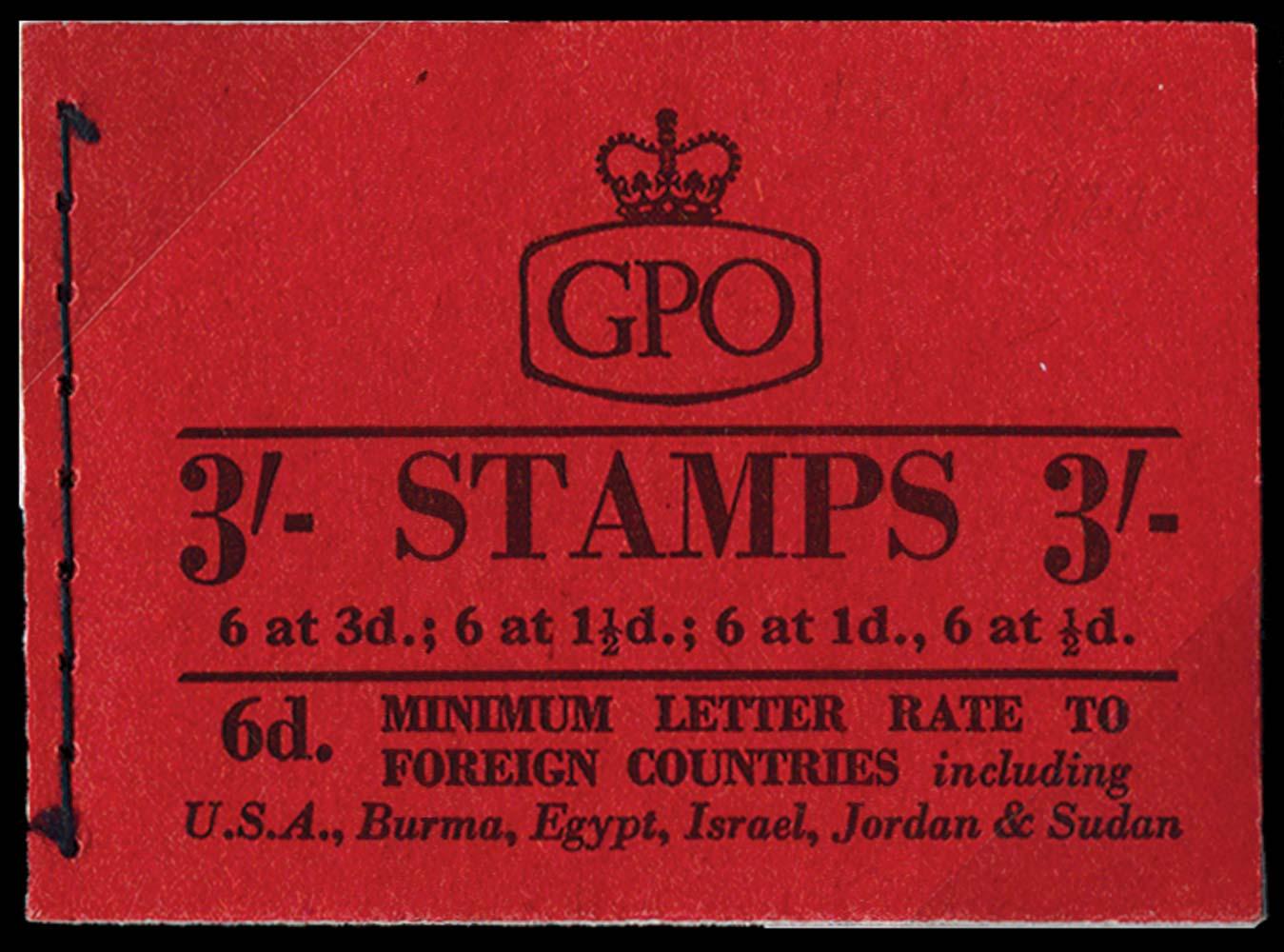 GB 1959  SGM13G Booklet