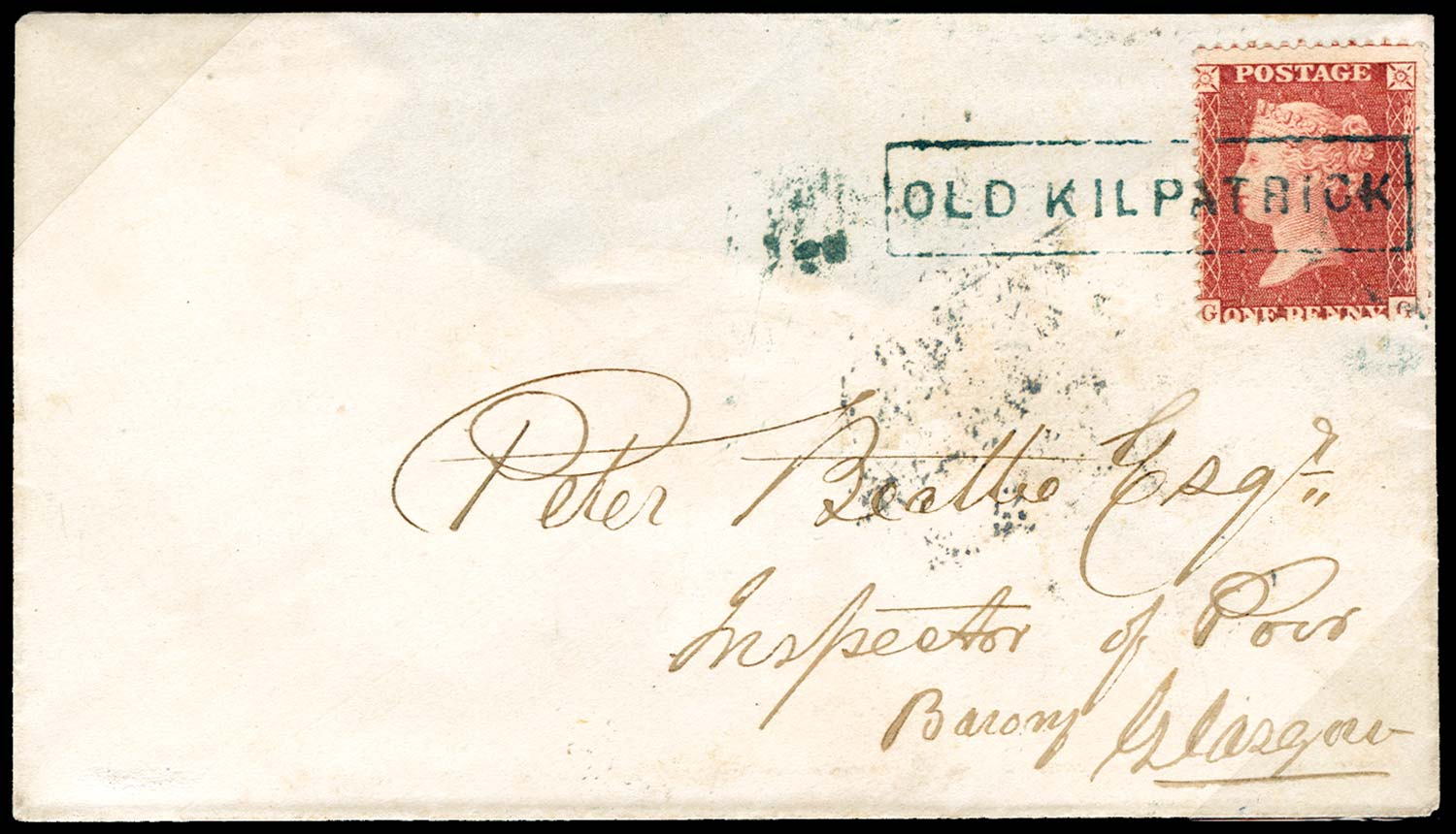 GB 1858  SG40 Pl.43 Cover