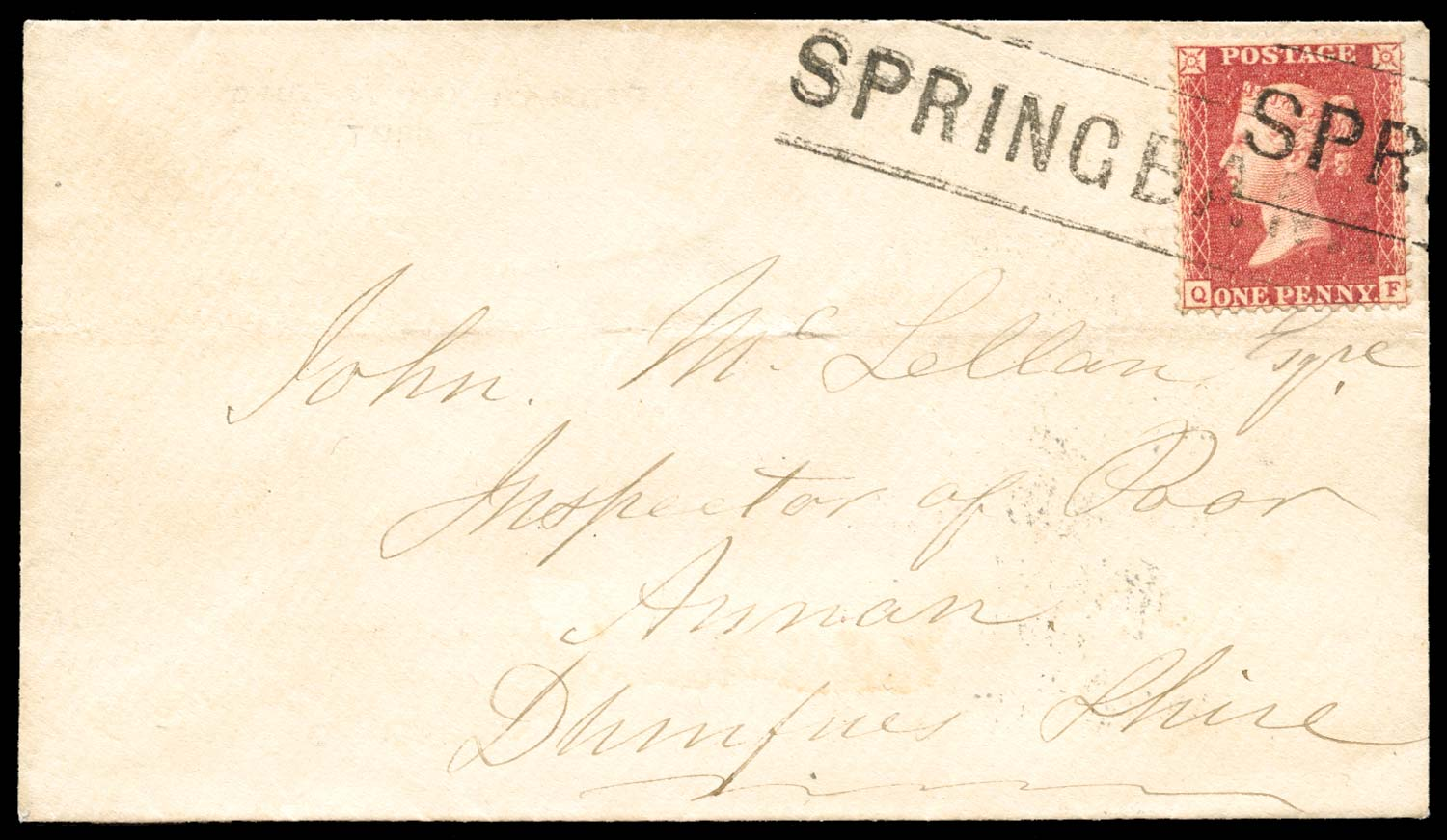 GB 1858  SG40 Pl.57 Cover