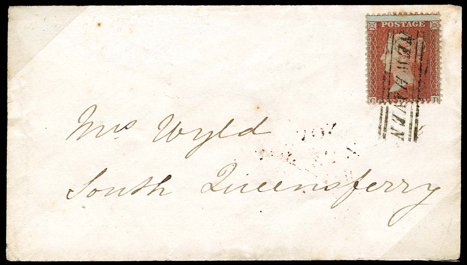 GB 1856  SG29 Pl.37 Cover