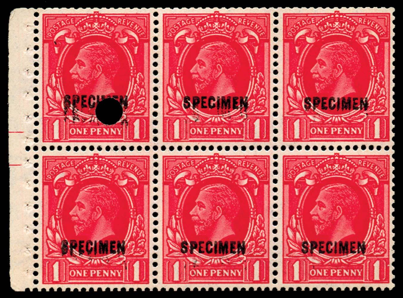 GB 1935  SG440gw var Booklet pane