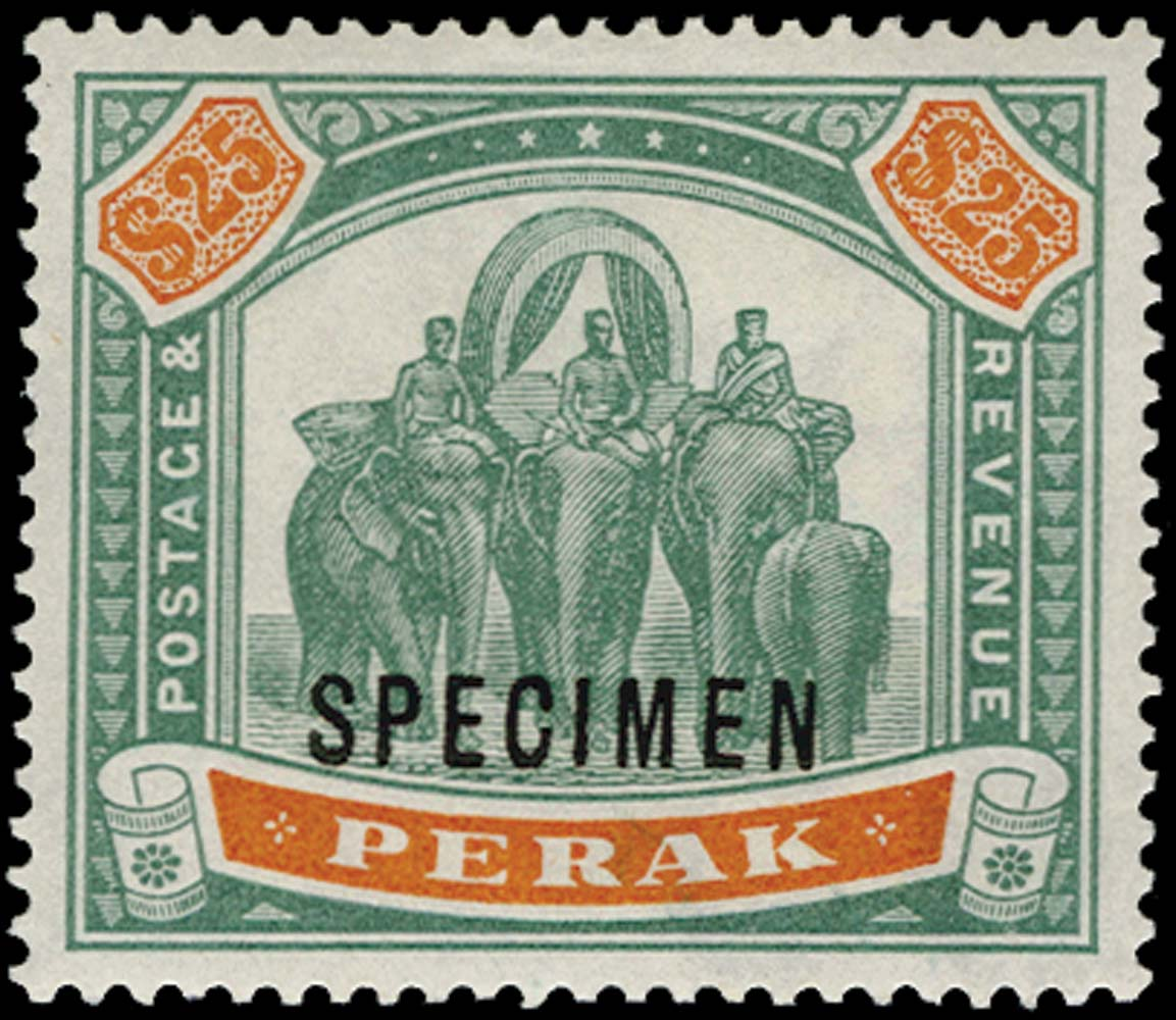 MALAYA - PERAK 1895  SG80s Specimen
