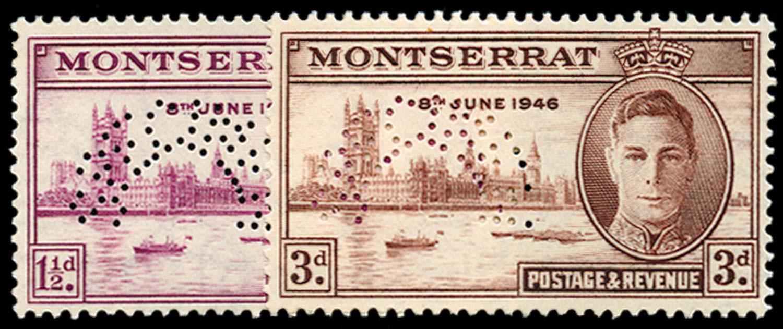 MONTSERRAT 1946  SG113s/14s Specimen