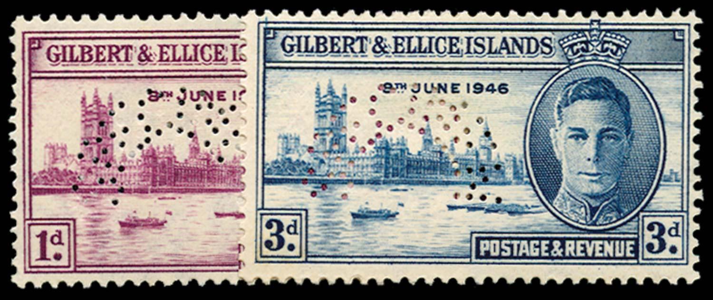 GILBERT & ELLICE IS 1946  SG55s/6s Specimen