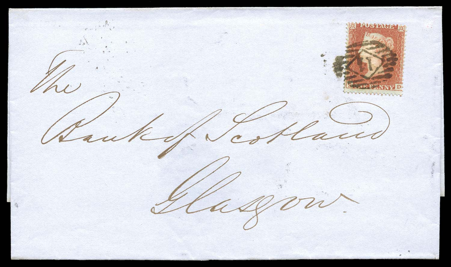 GB 1850  SG16b Pl.100 Cover