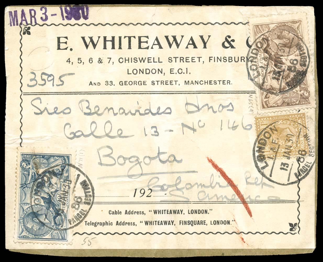GB 1918  SG415a, 417 Cover