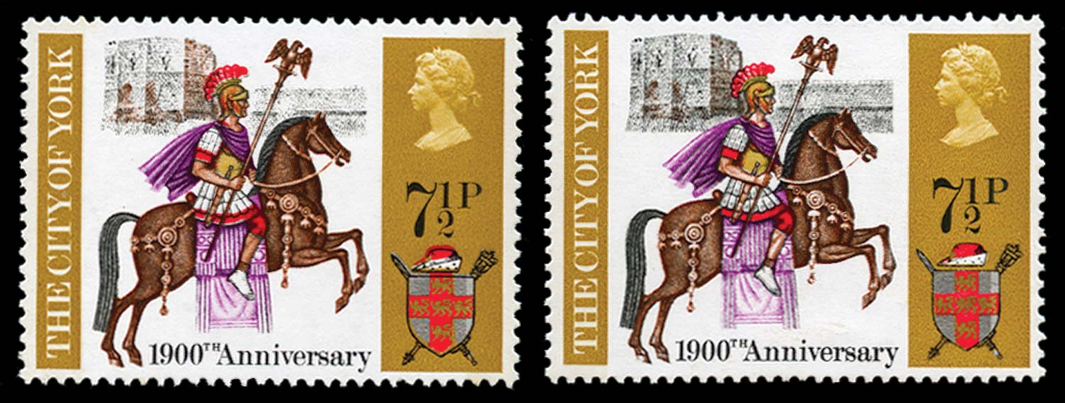 GB 1971  SG888a Mint grey omitted