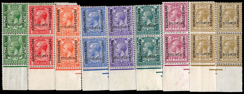 BECHUANALAND 1913  SG73/82s Specimen