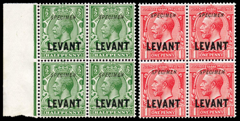BRITISH LEVANT 1911  SGL16/17 Specimen