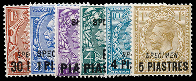 BRITISH LEVANT 1913  SG35/40 Specimen