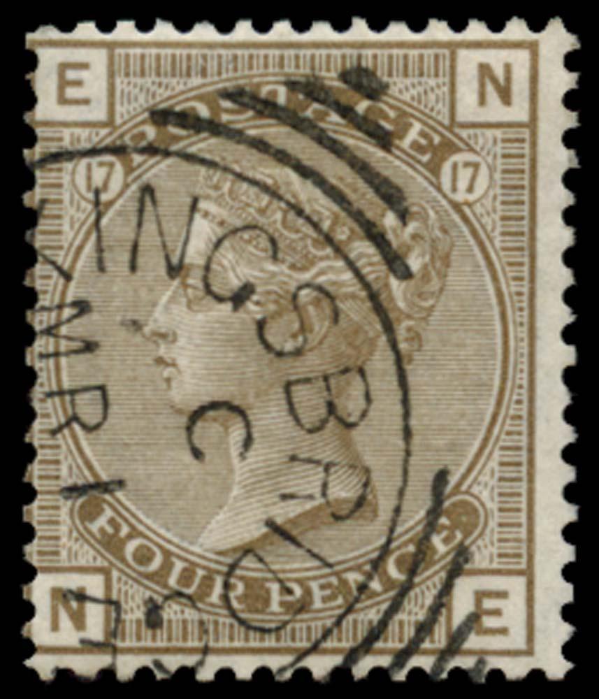GB 1880  SG154 Pl.17 Used