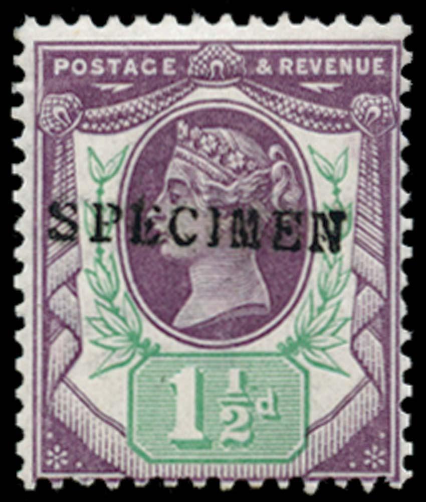 GB 1887  SG198s Specimen