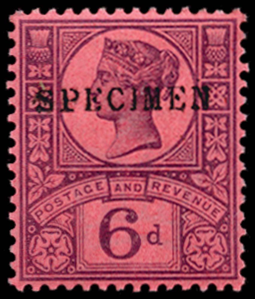 GB 1887  SG208s Specimen