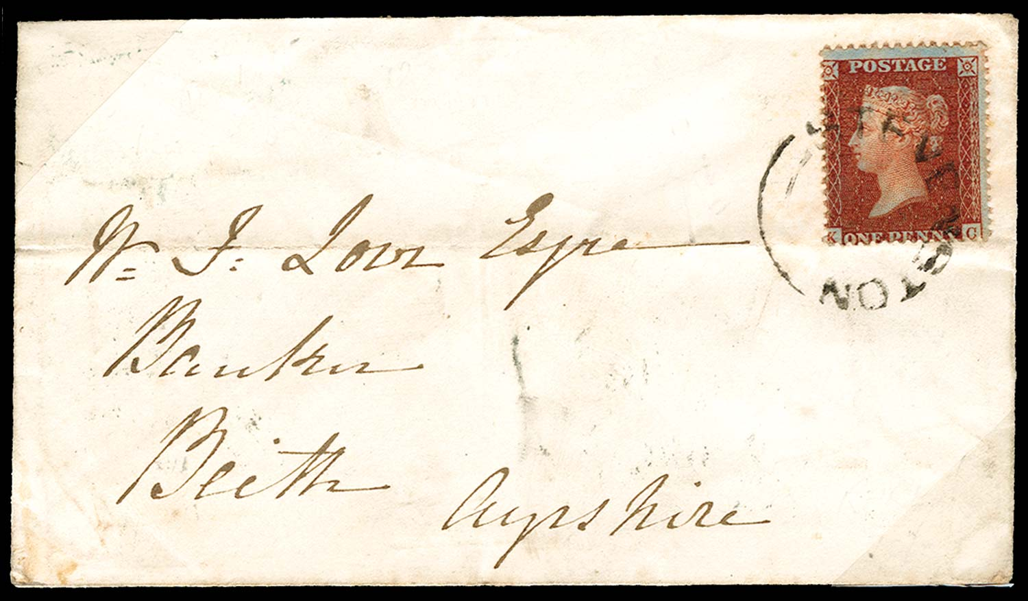 GB 1856  SG29 Pl.28 Cover