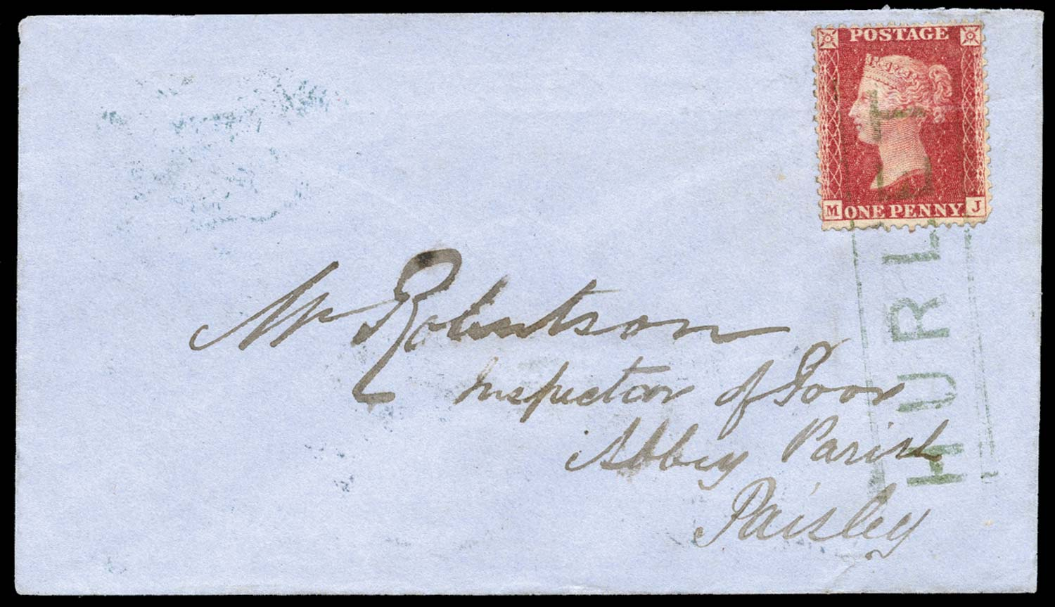 GB 1858  SG40 Pl.55 Cover