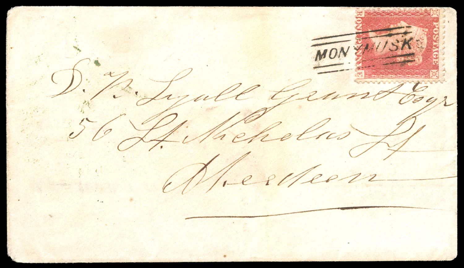 GB 1858  SG40 Pl.56 Cover