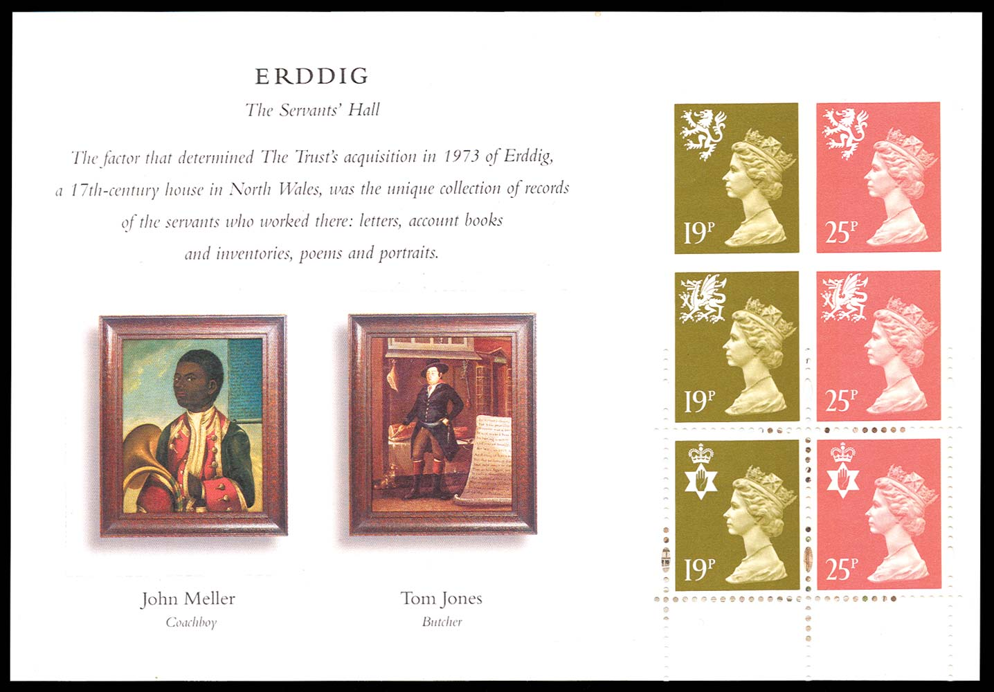 GB 1995  SGNI70da Booklet pane with imperf variety