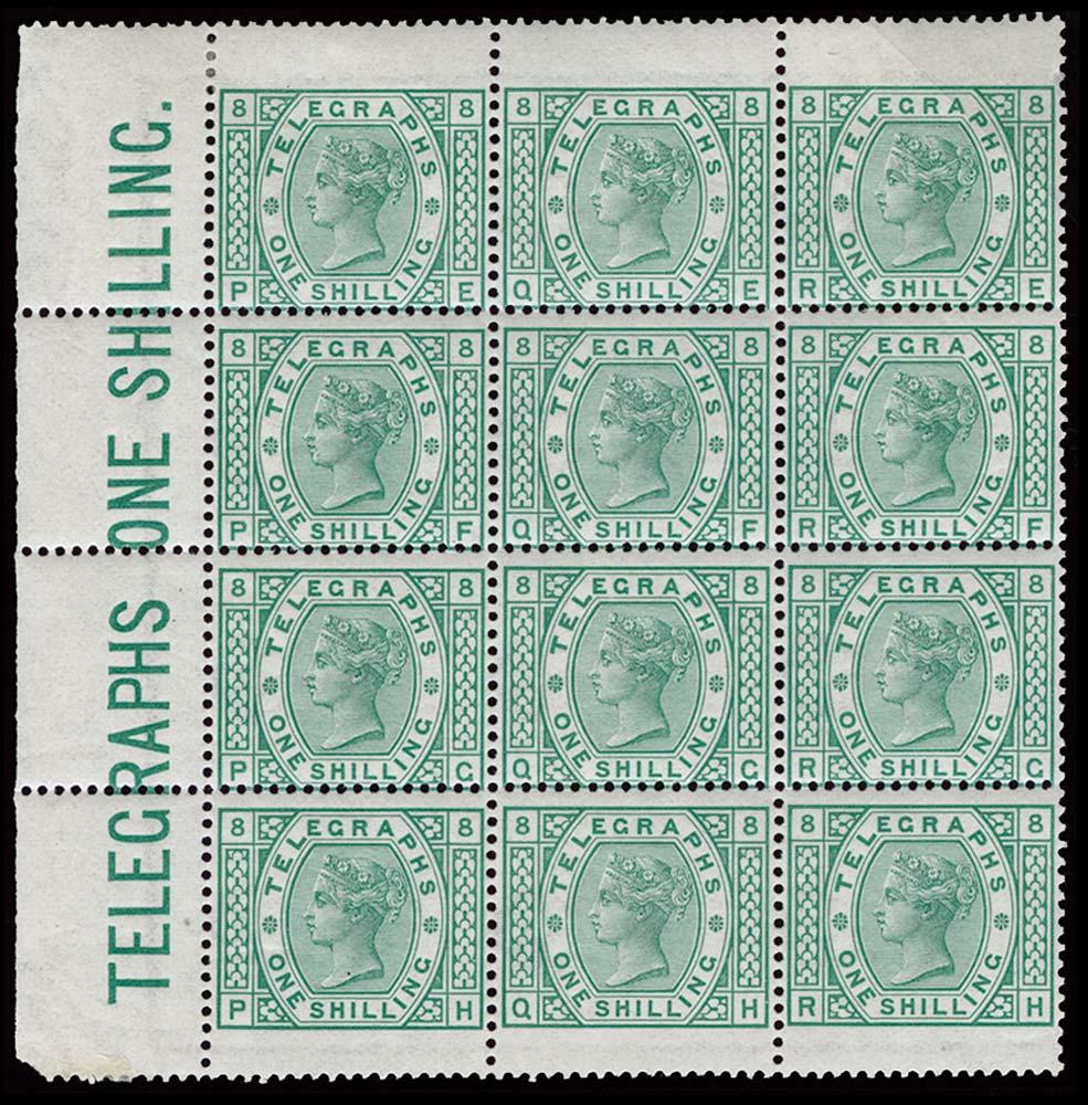 GB 1878  SGT8var Pl.8 Telegraph
