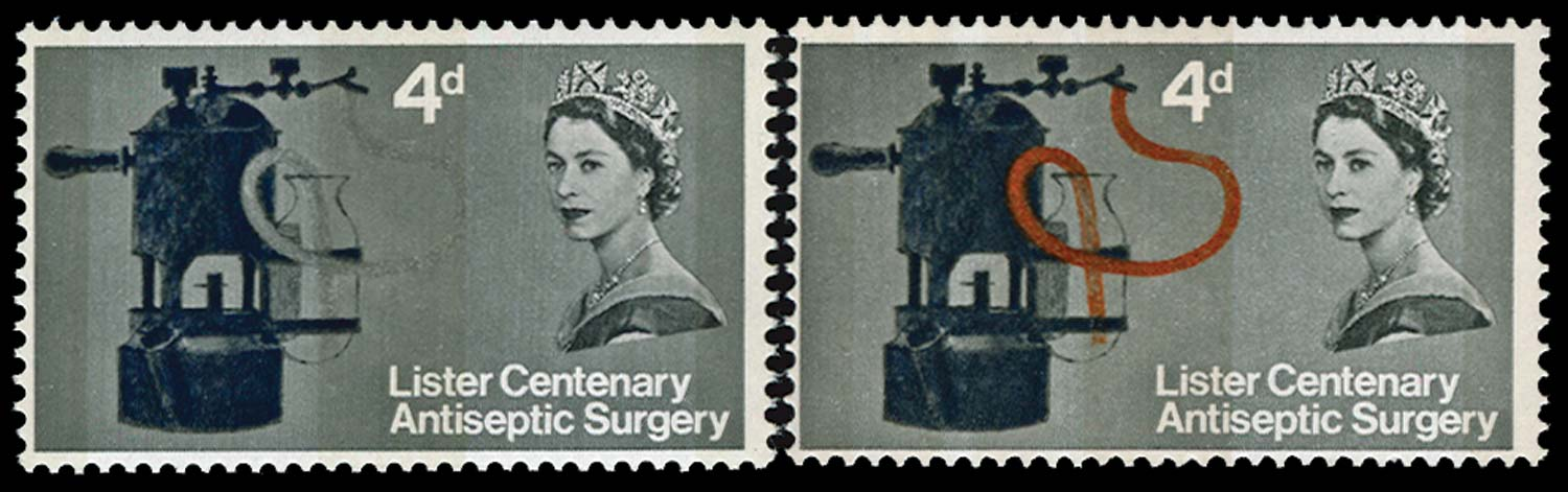 GB 1965  SG667pa Mint brown-red omitted