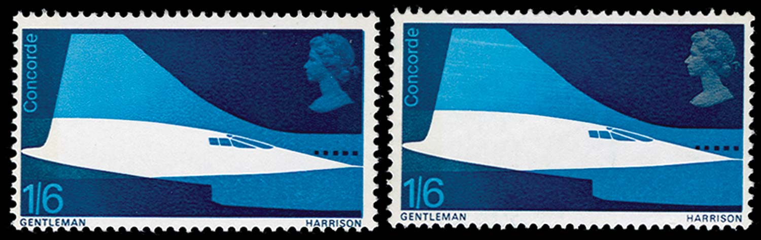 GB 1969  SG786a Mint silver-grey omitted