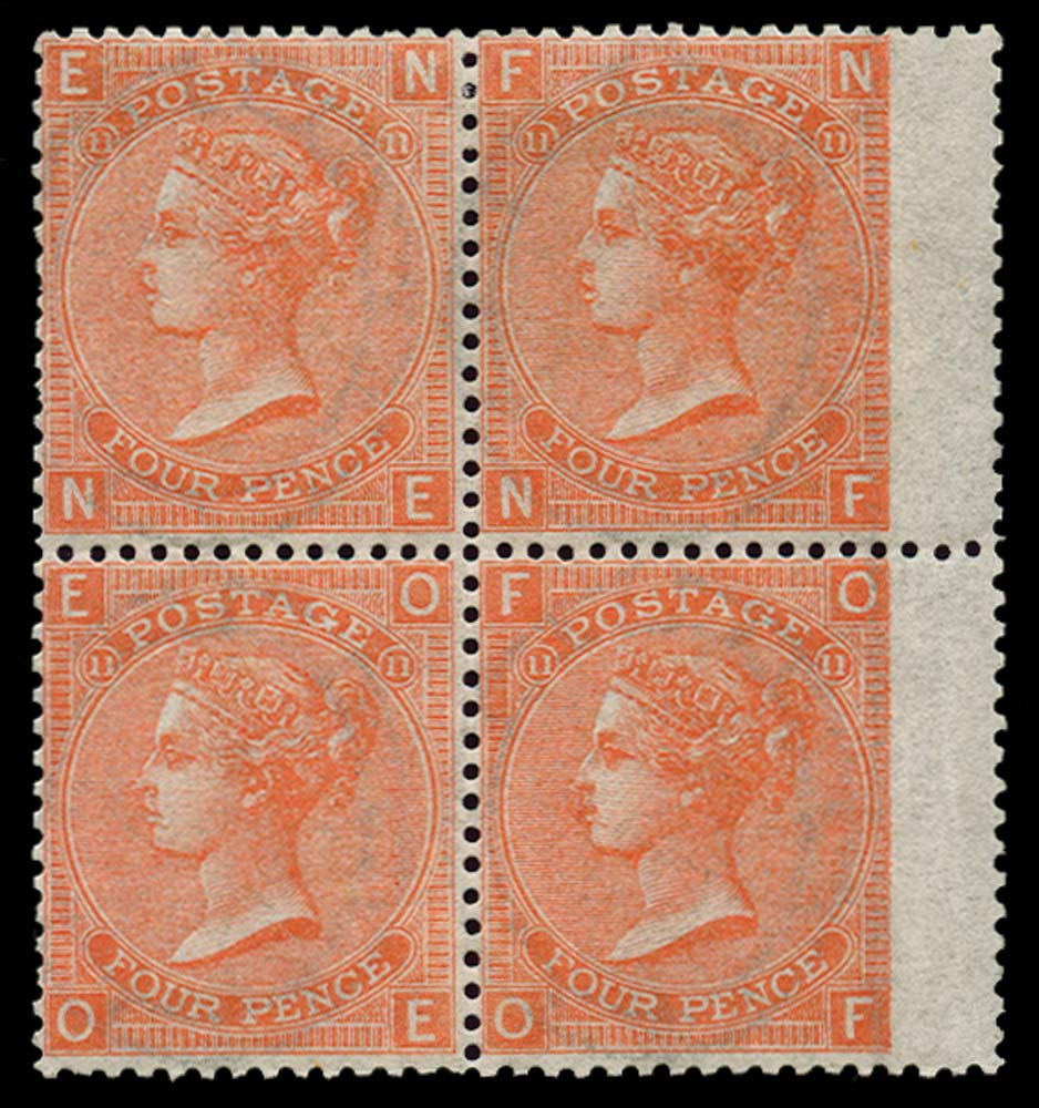 GB 1869  SG94 Pl.11 Mint