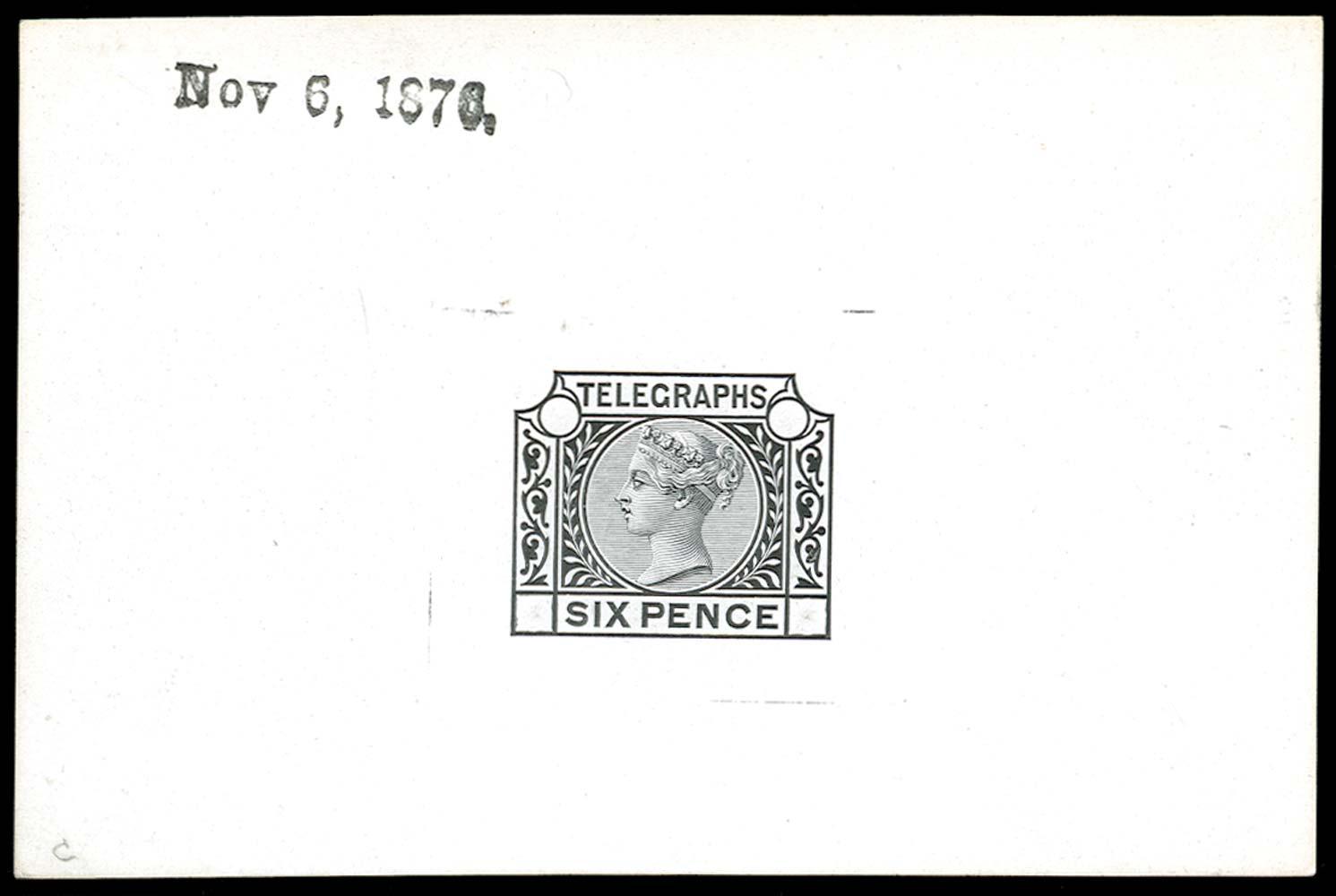 GB 1876  SGT6var Telegraph Die proof