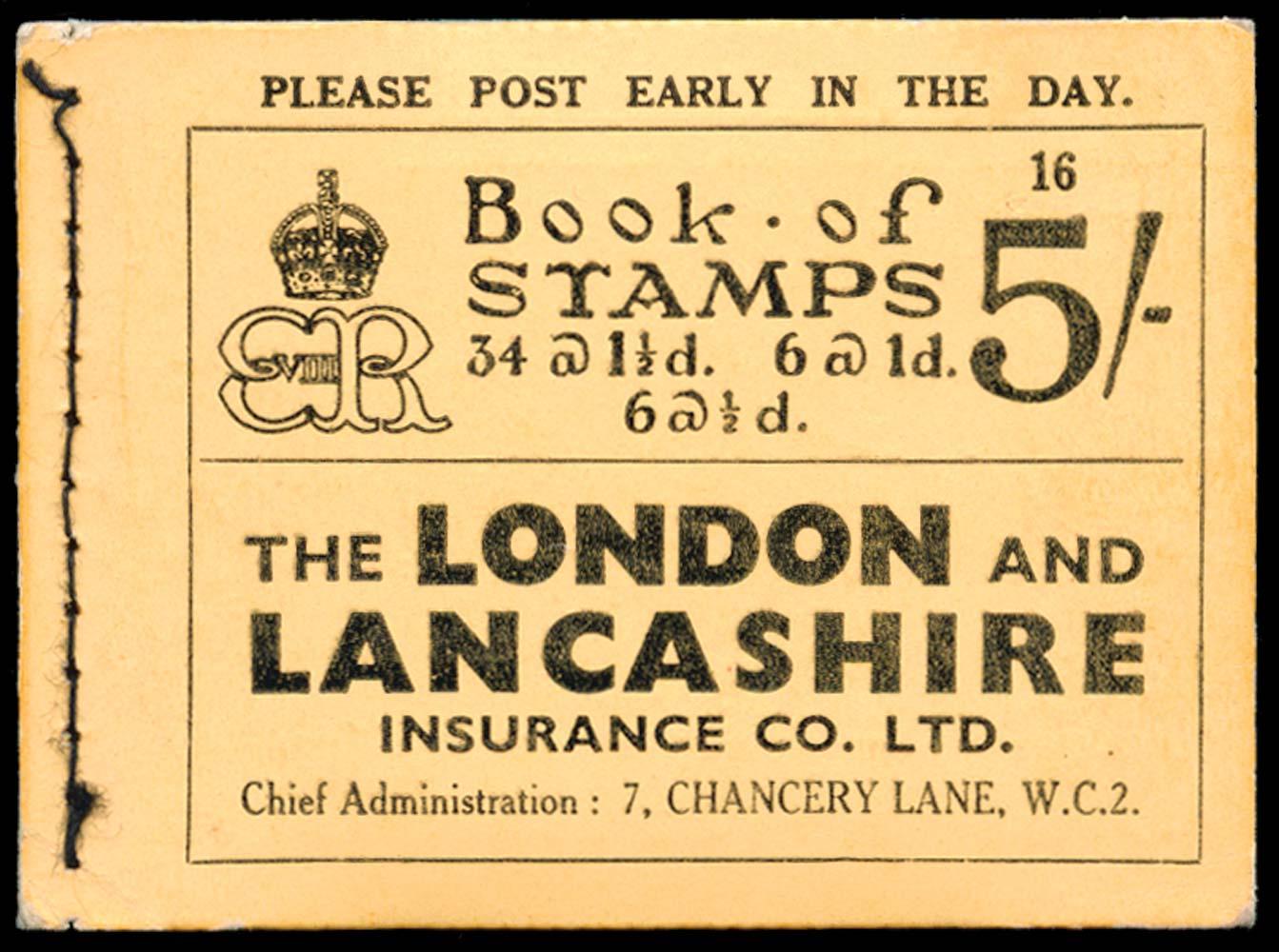 GB 1937  SGBC4 Booklet (Edition 16)