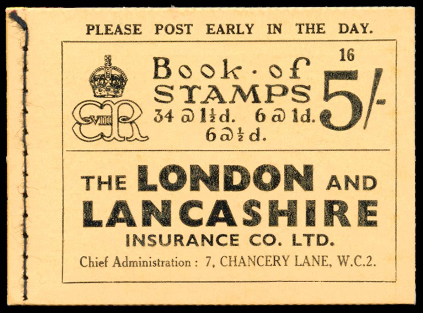 GB 1937  SGBC4 Booklet (Edition 16)