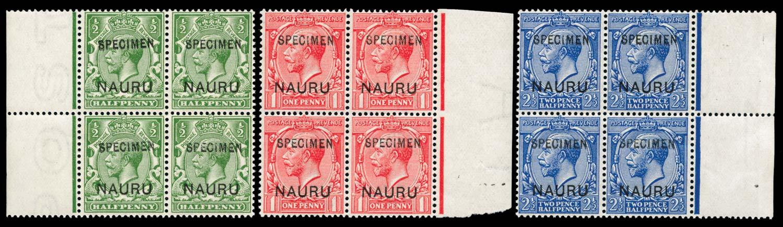 NAURU 1916  SG1/2,6 Specimen