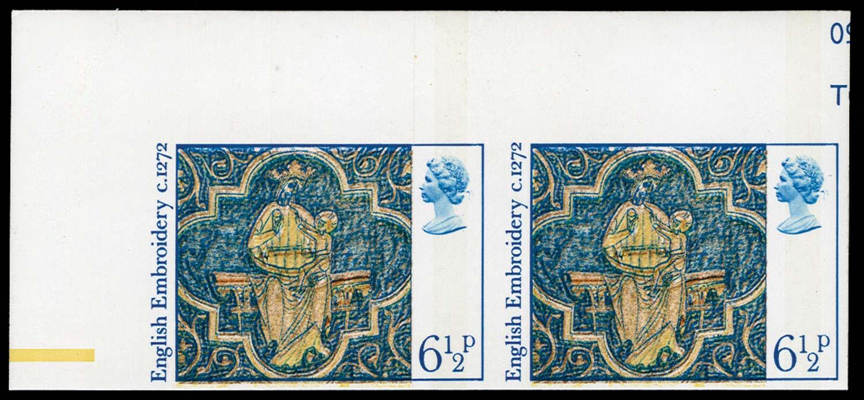 GB 1976  SG1018a Mint imperf (pair)