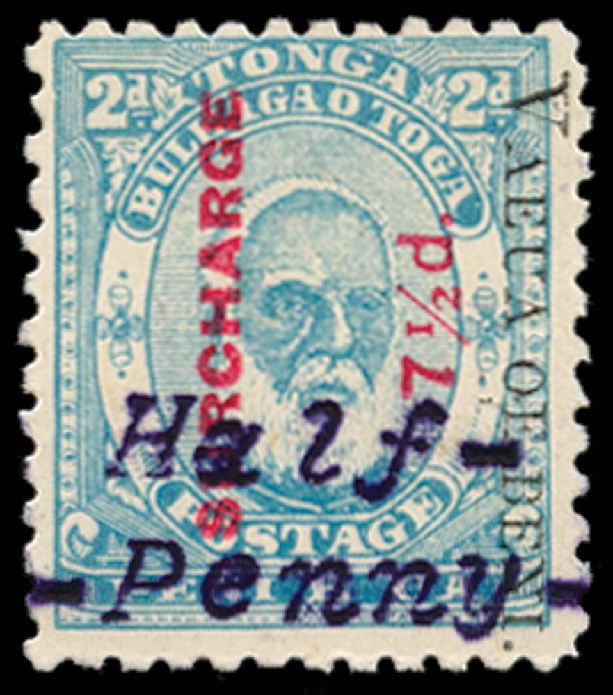 TONGA 1896  SG37Ap var Mint