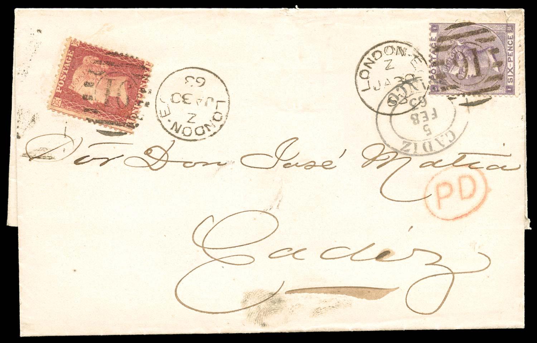 GB 1863  SG42, 83 Cover