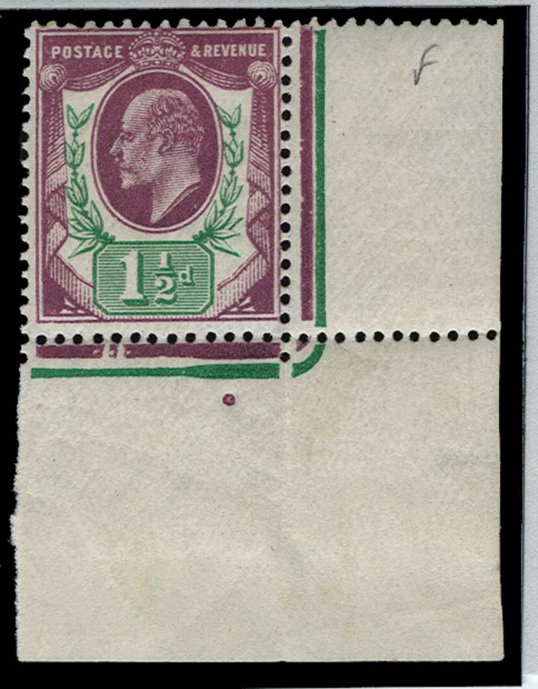 GB 1912  SG289var Mint