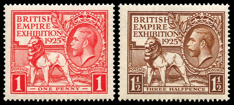 GB 1925  SG432/3 Mint