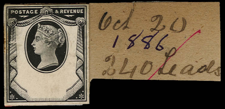 GB 1886  SG198var Proof