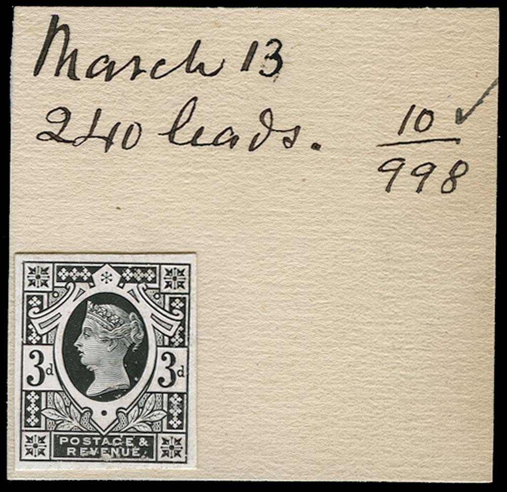 GB 1886  SG202var Proof