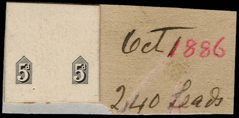 GB 1886  SG207var Proof