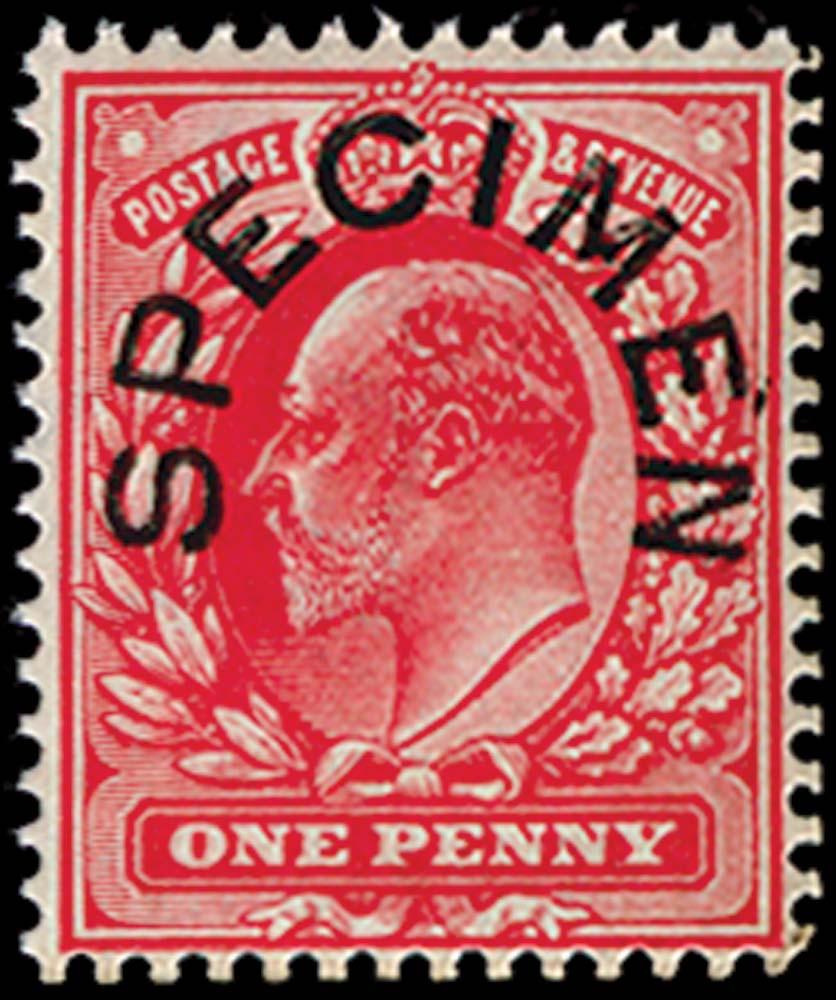 GB 1902  SG219s Specimen