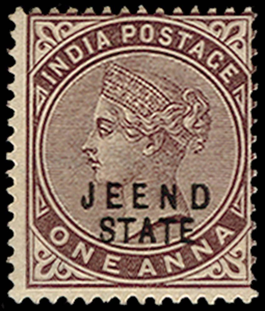 I.C.S. JIND 1885  SG8 Mint
