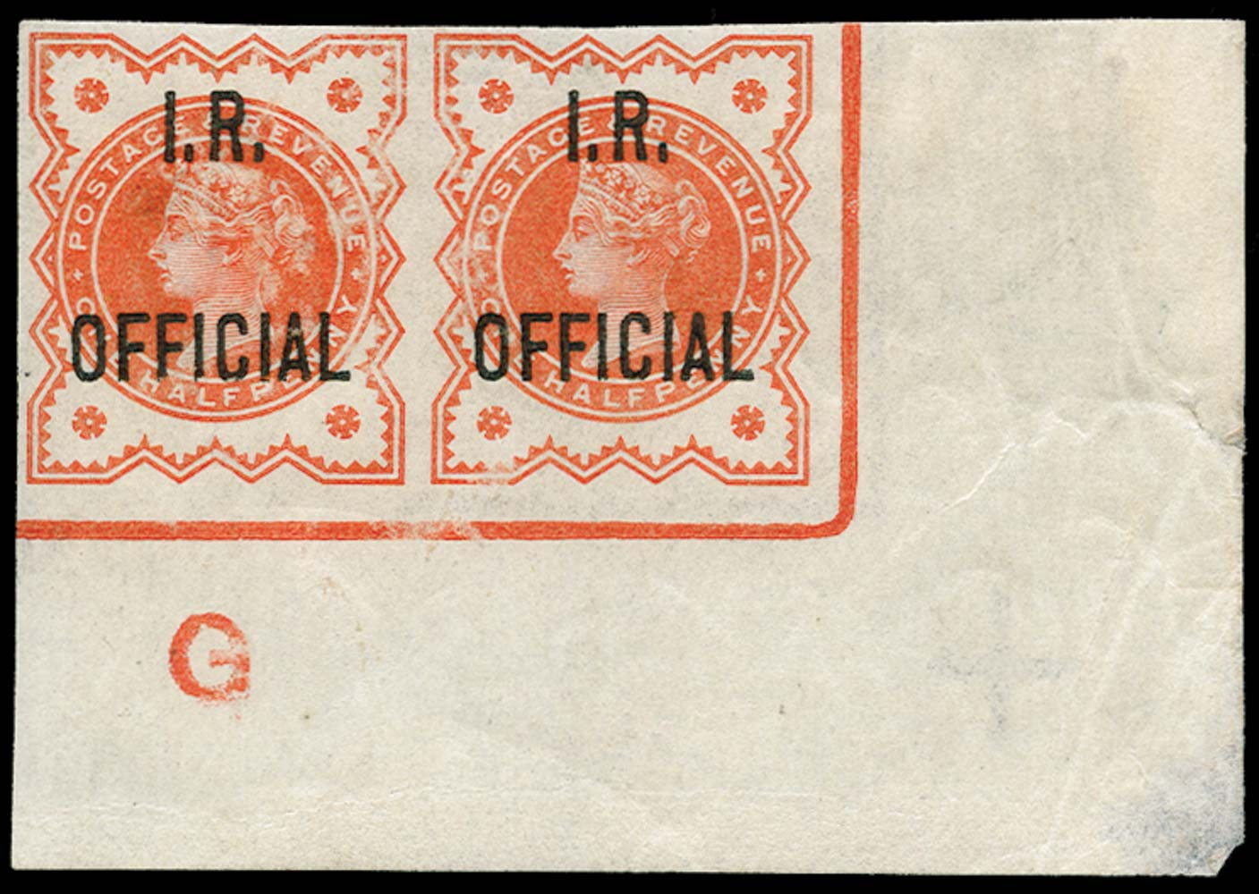 GB 1888  SGO13b Official Imperforate