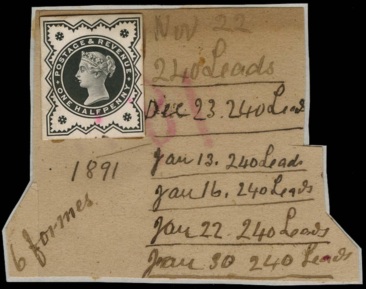 GB 1891  SG197var Proof