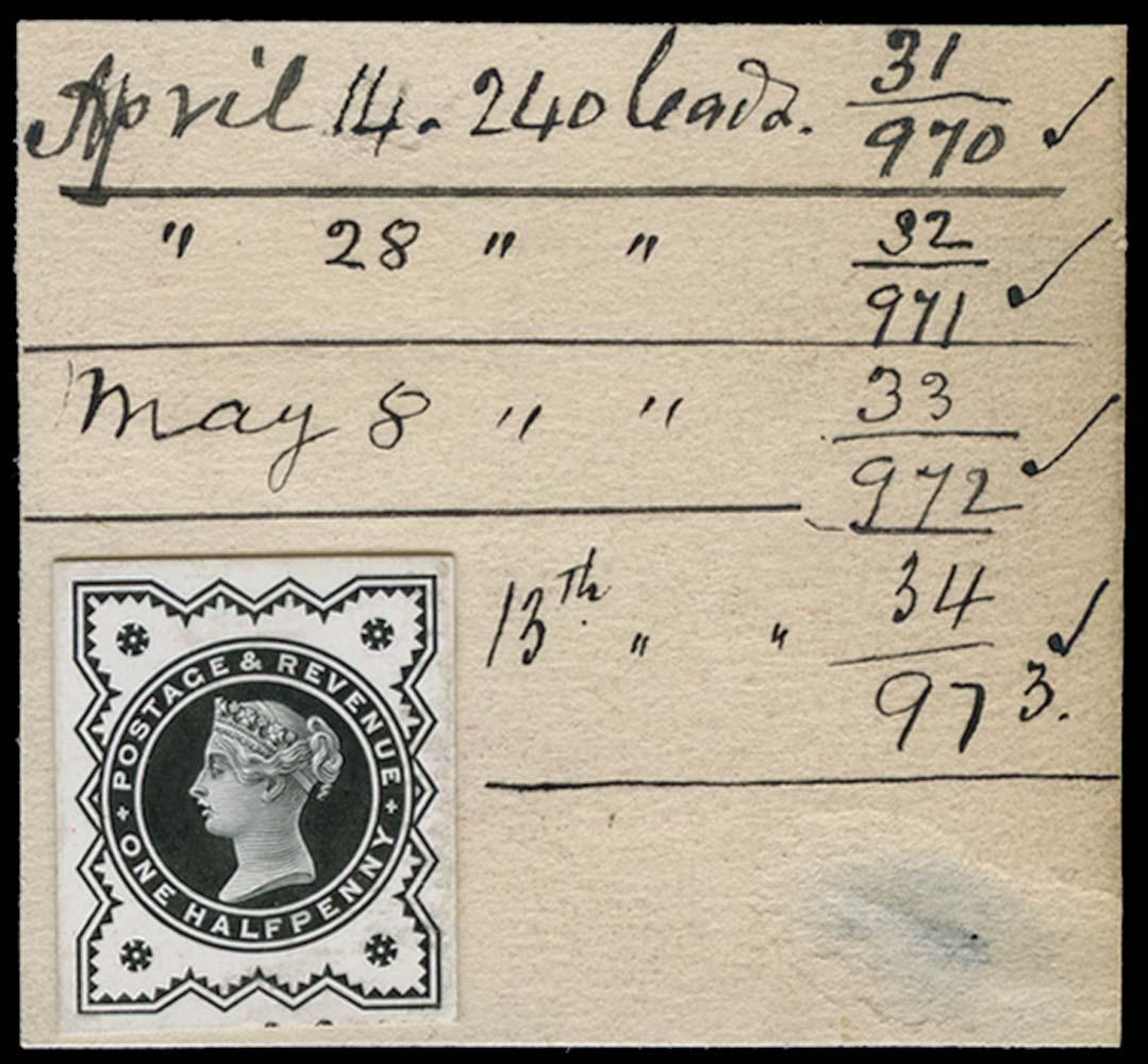 GB 1897  SG197var Proof