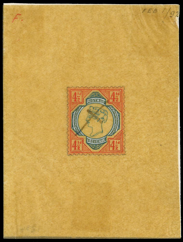 GB 1892  SG206var Essay