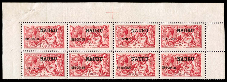 NAURU 1916  SG17 Specimen
