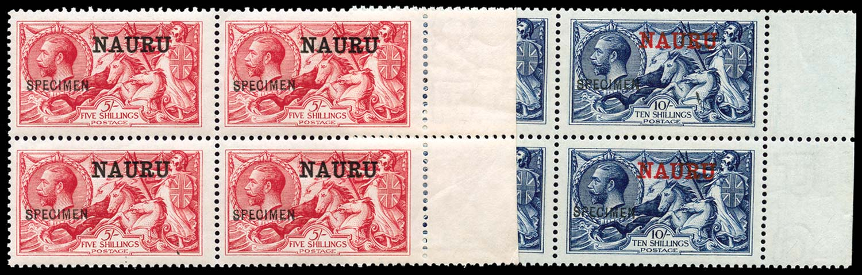 NAURU 1916  SG17/18 Specimen
