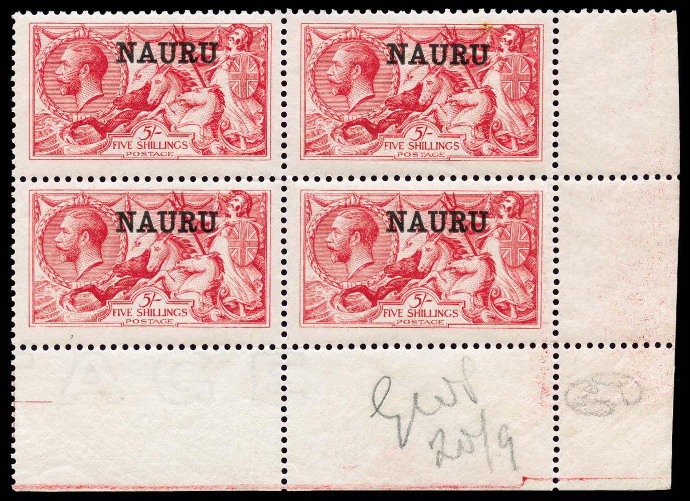 NAURU 1916  SG17 Mint